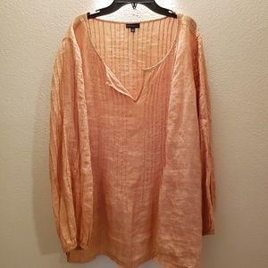 Cute peach colored Talbots linen top